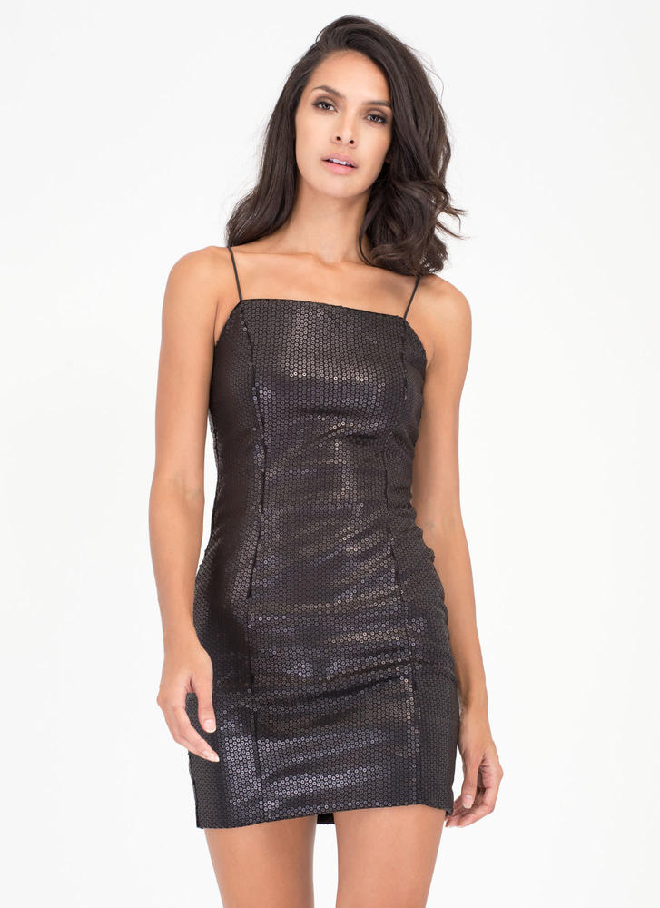 Party Over Here Matte Sequin Minidress BLACK (Final Sale)