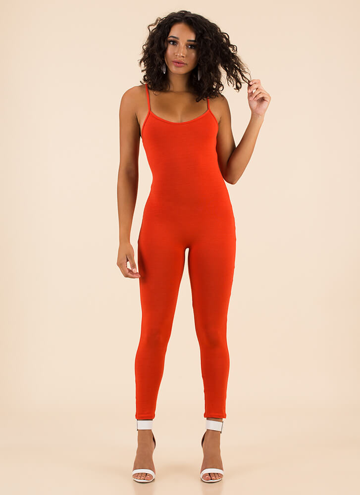 One Woman Show Full Bodysuit ORANGE