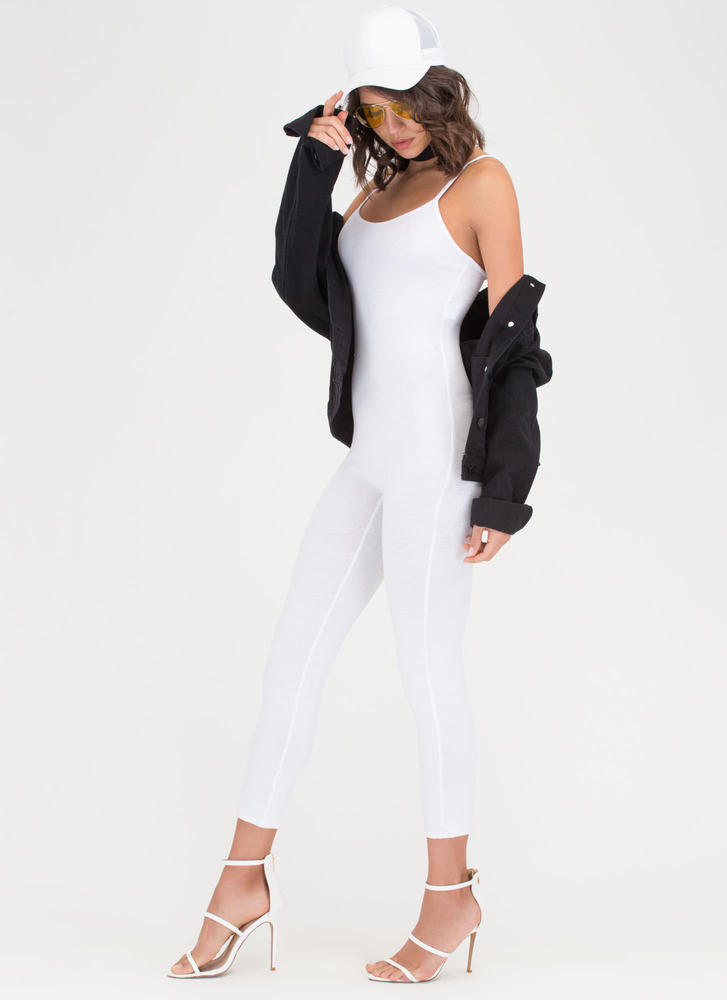 One Woman Show Full Bodysuit WHITE