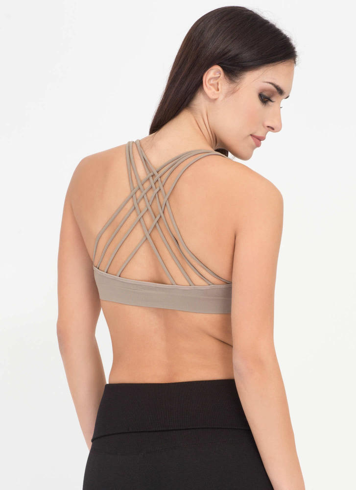 Strappy Accident Caged Bralette MOCHA