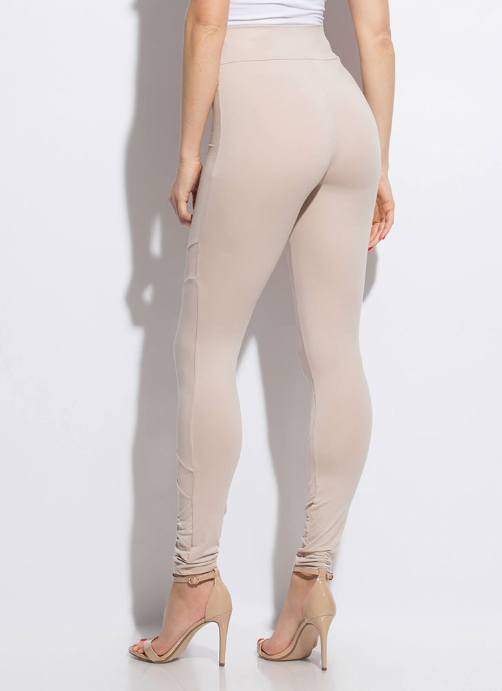 Sheer Perfection Mesh Inset Leggings NUDE