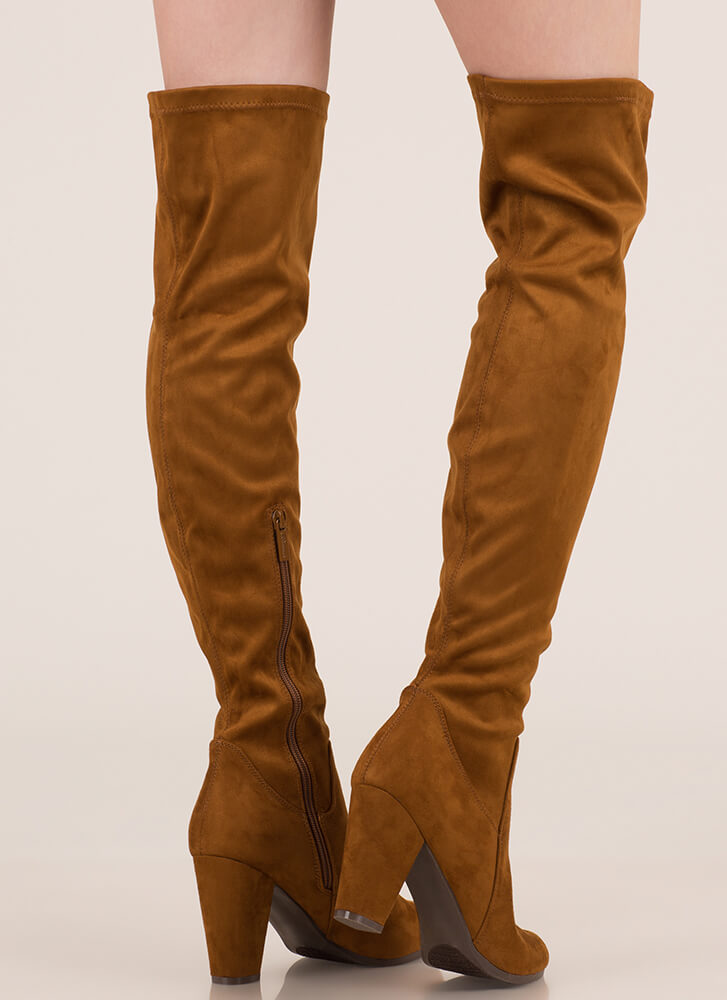 Thigh's The Limit Over-The-Knee Boots TAN