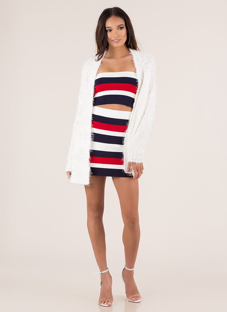 Hot Fuzz Chunky Cardigan Sweater IVORY (Final Sale)