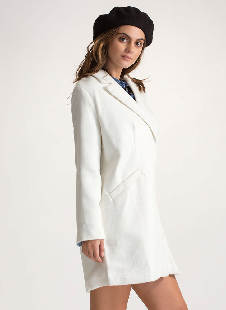 Warming Trend Fuzzy Peacoat WHITE (Final Sale)