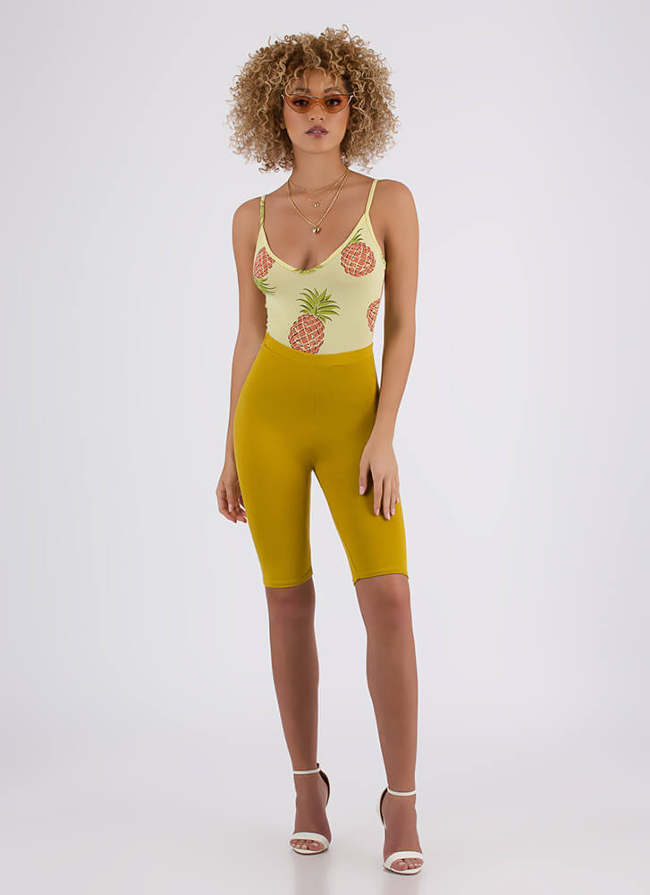 So Long High-Waisted Capri Biker Shorts LEMONGRASS (You Saved $6)