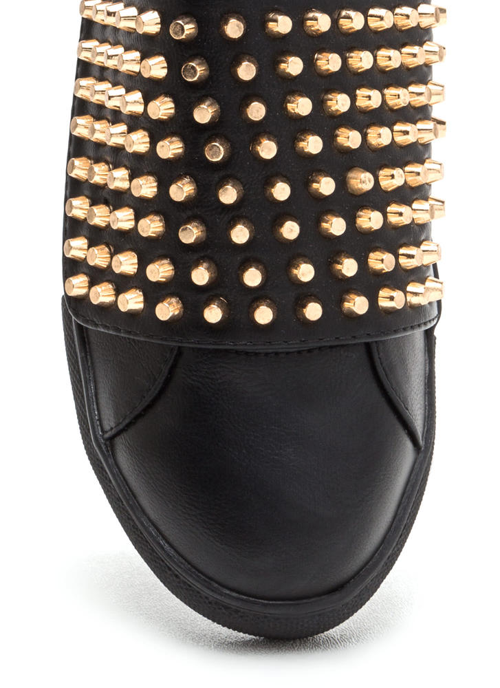 Quick Stud-y Slip-On Sneakers BLACK
