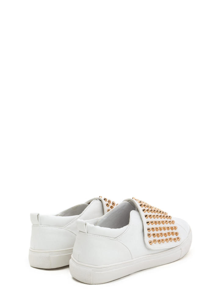 Quick Stud-y Slip-On Sneakers WHITE