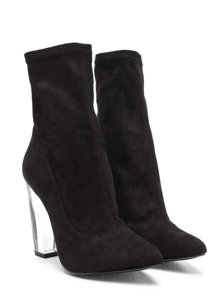 Great Point Chunky Lucite Booties BLACK (Final Sale)