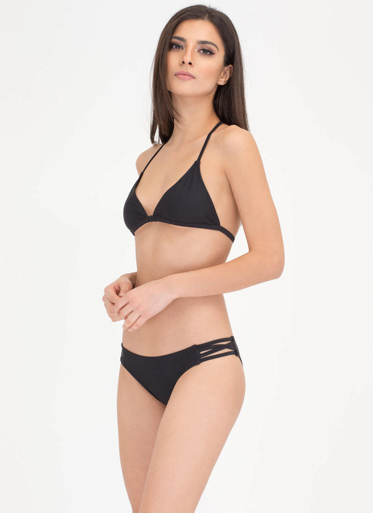 Fit To A T-Strap Caged Bikini Set BLACK (Final Sale)