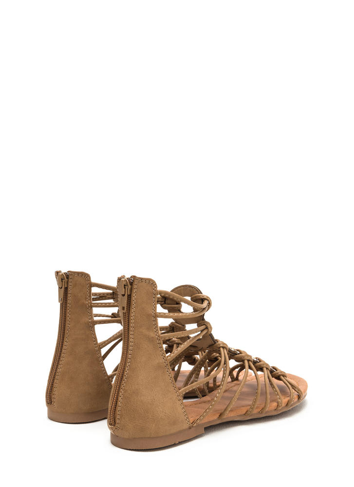 Knot Bad Jeweled Gladiator Sandals LTTAN