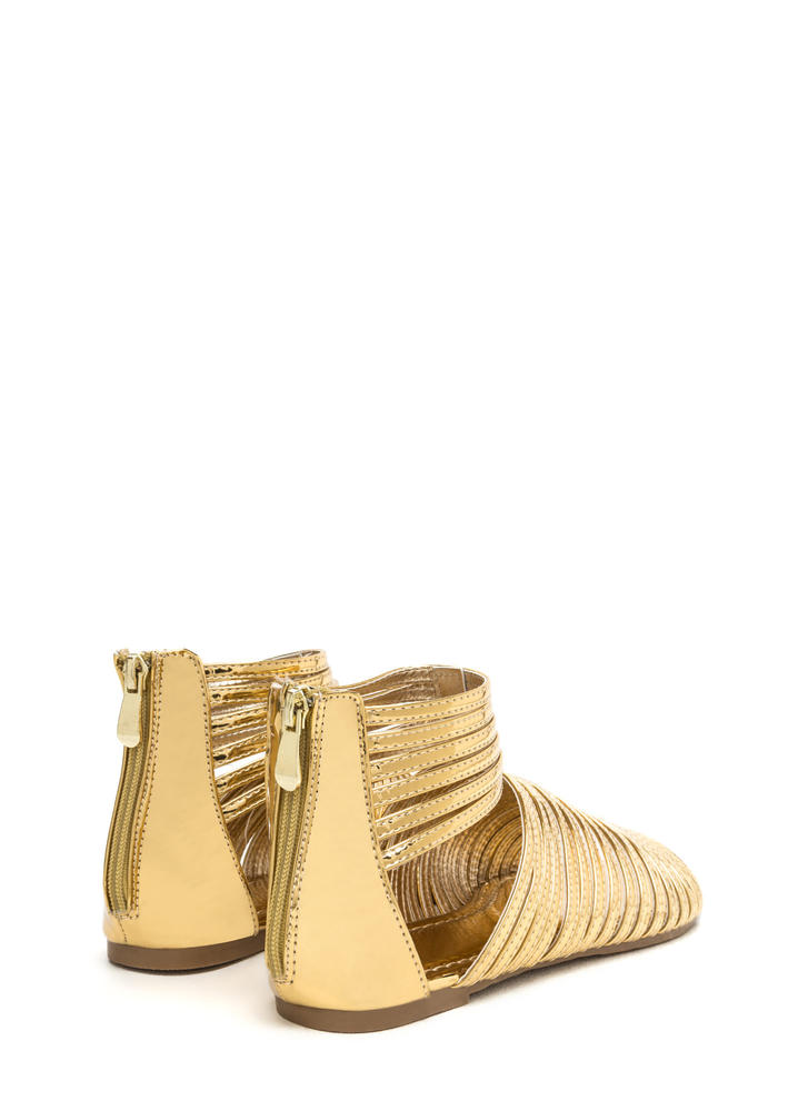 Stacked In Your Favor Metallic Sandals GOLD (Final Sale)