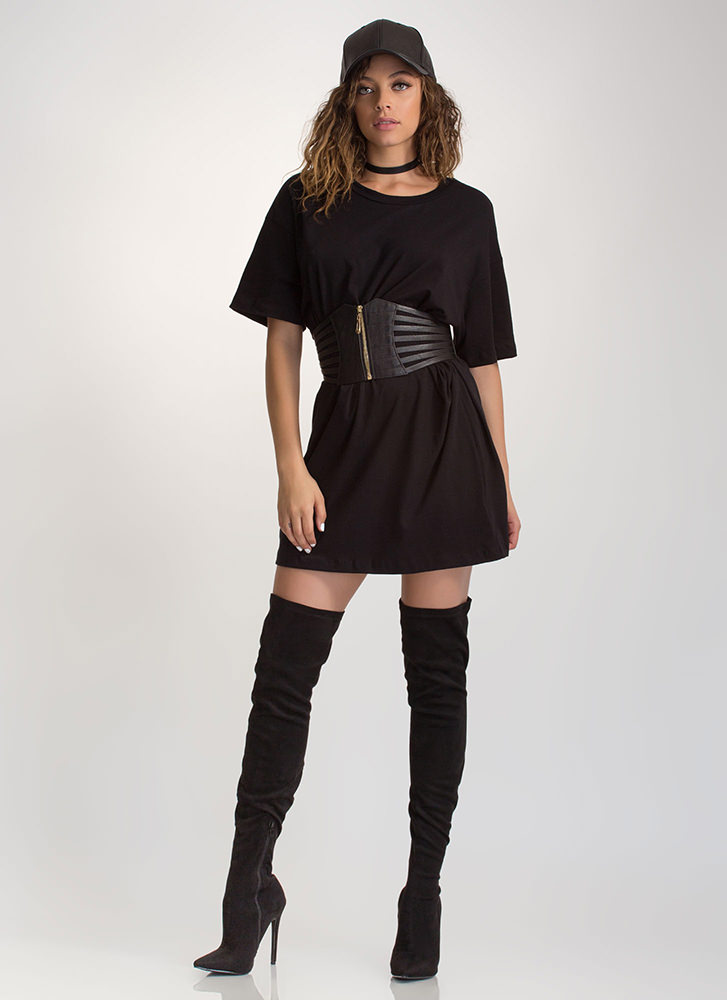 What's The Big Idea Oversized Tee BLACK (Final Sale)