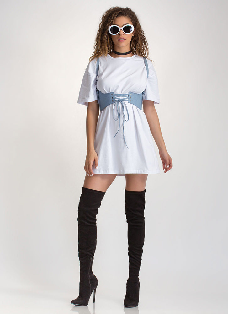 What's The Big Idea Oversized Tee WHITE