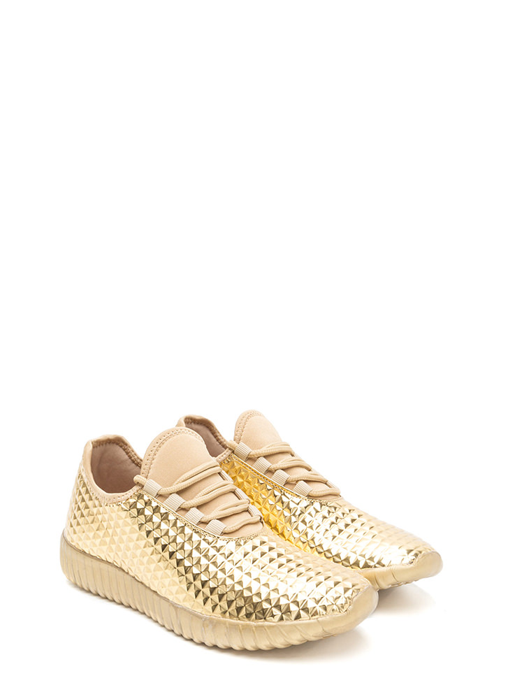 Trek The Pyramids Metallic Sneakers GOLD
