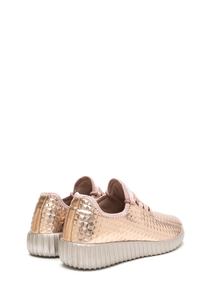 Trek The Pyramids Metallic Sneakers ROSEGOLD