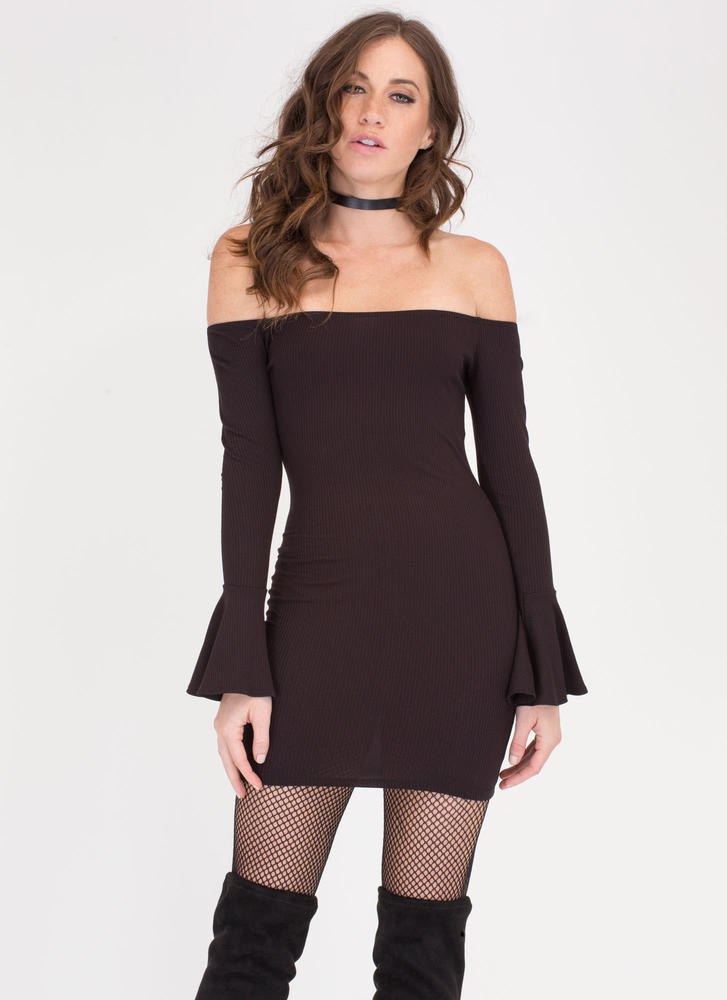 Off the Shoulder Cocktail Dress
