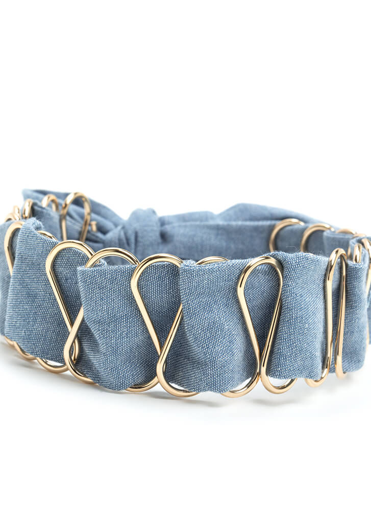 Chic Cred Wide Chambray Choker LTBLUE (You Saved $10)
