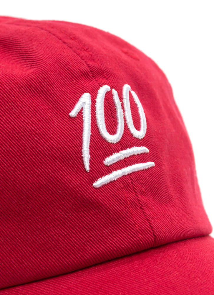 Solid Perfection Woven Baseball Hat RED