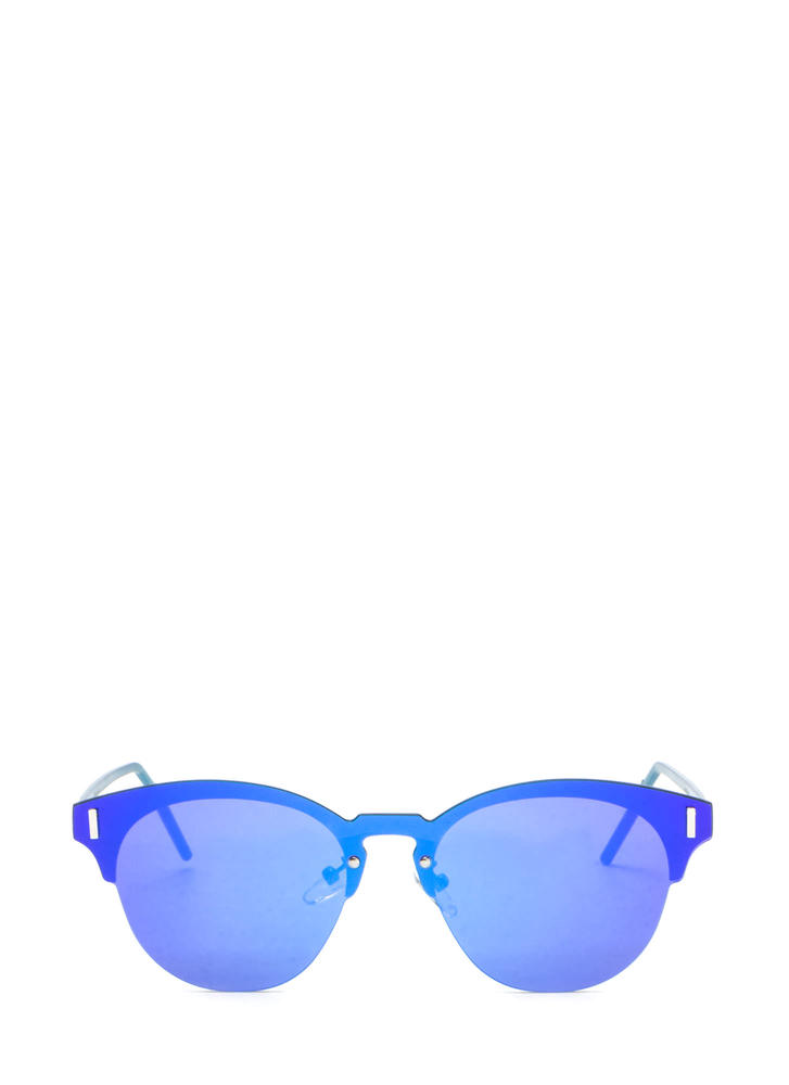 Fresh Perspective Mirrored Sunglasses BLUE (Final Sale)