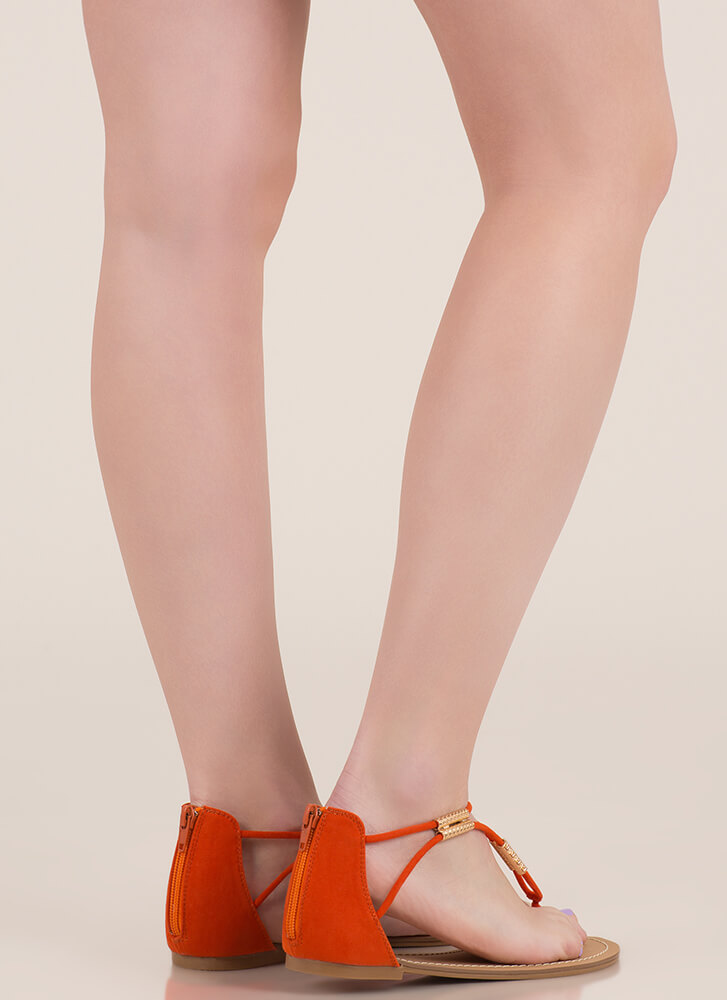 Vacay Ready Tube Bead Thong Sandals ORANGE (Final Sale)