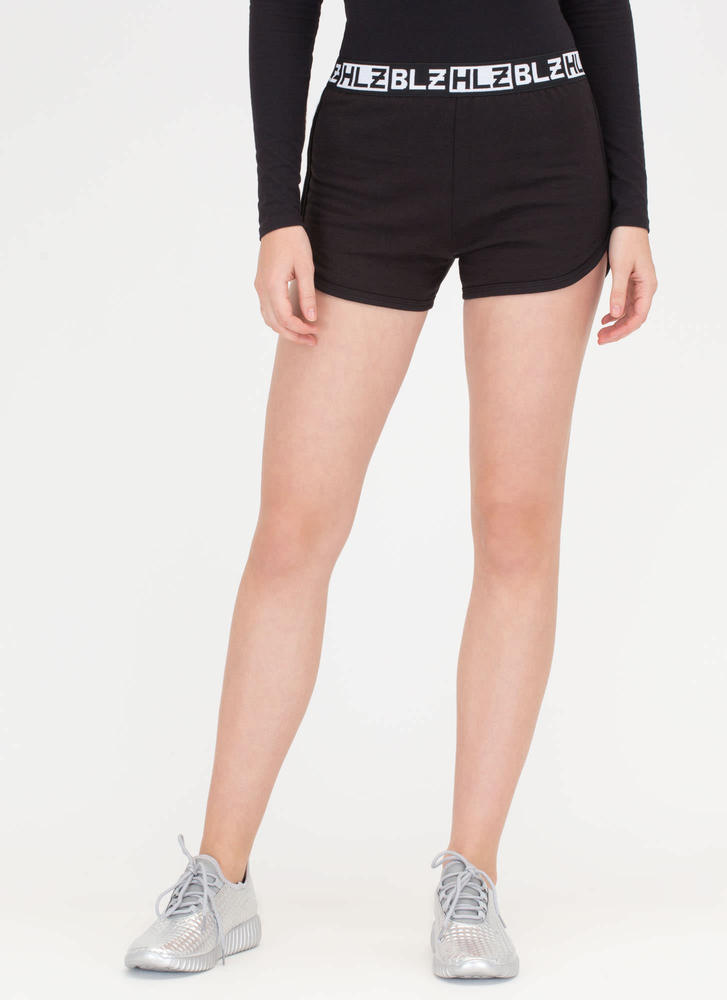 Ready To Box Dolphin Hem Shorts BLACK (Final Sale)