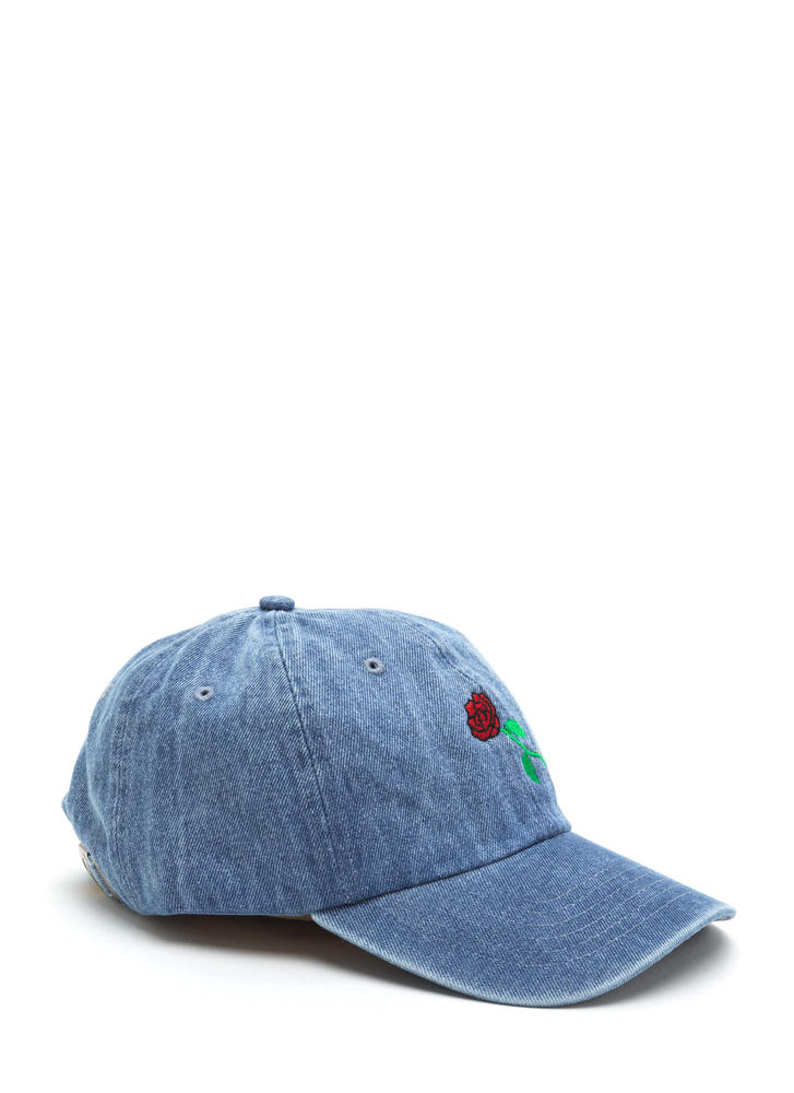 Rose By Any Other Name Denim Cap DENIM