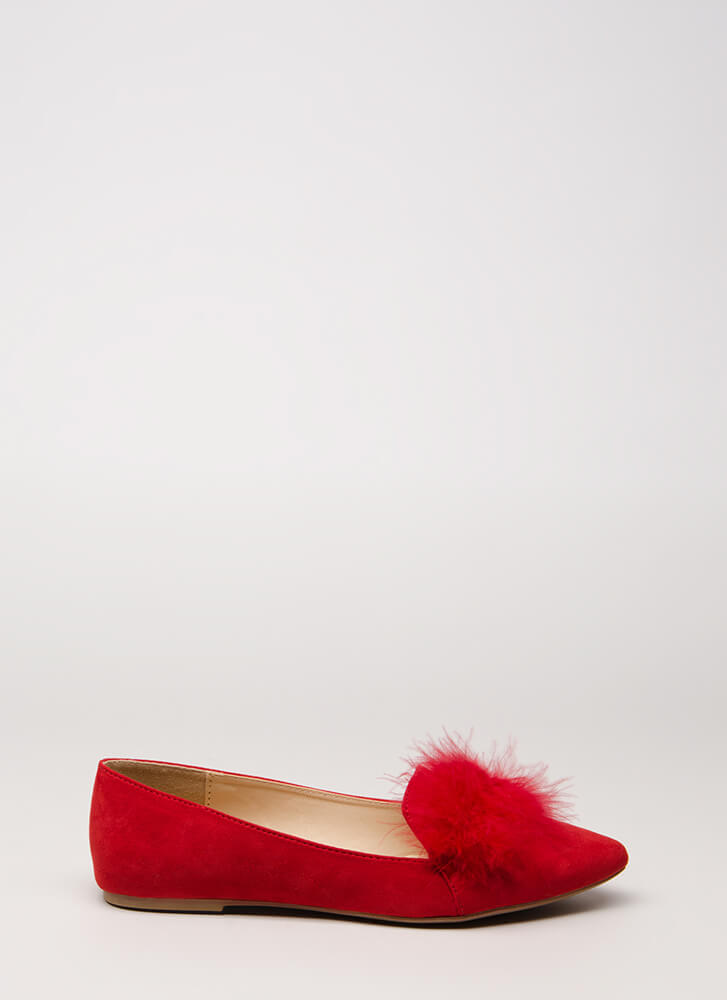 Feathered Friend Smoking Flats RED