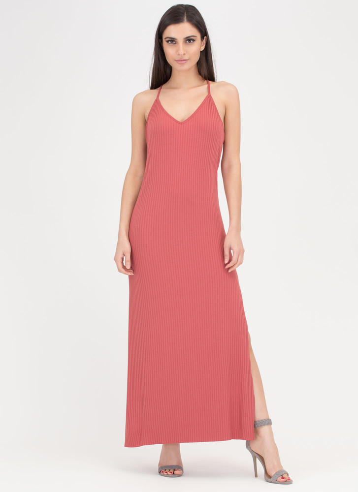 Speed Racer Ribbed Double Slit Maxi BRICK (Final Sale)