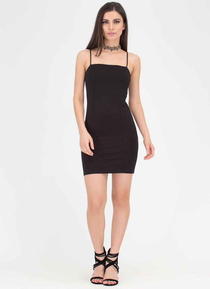 Short Sweet And Simple Minidress BLACK