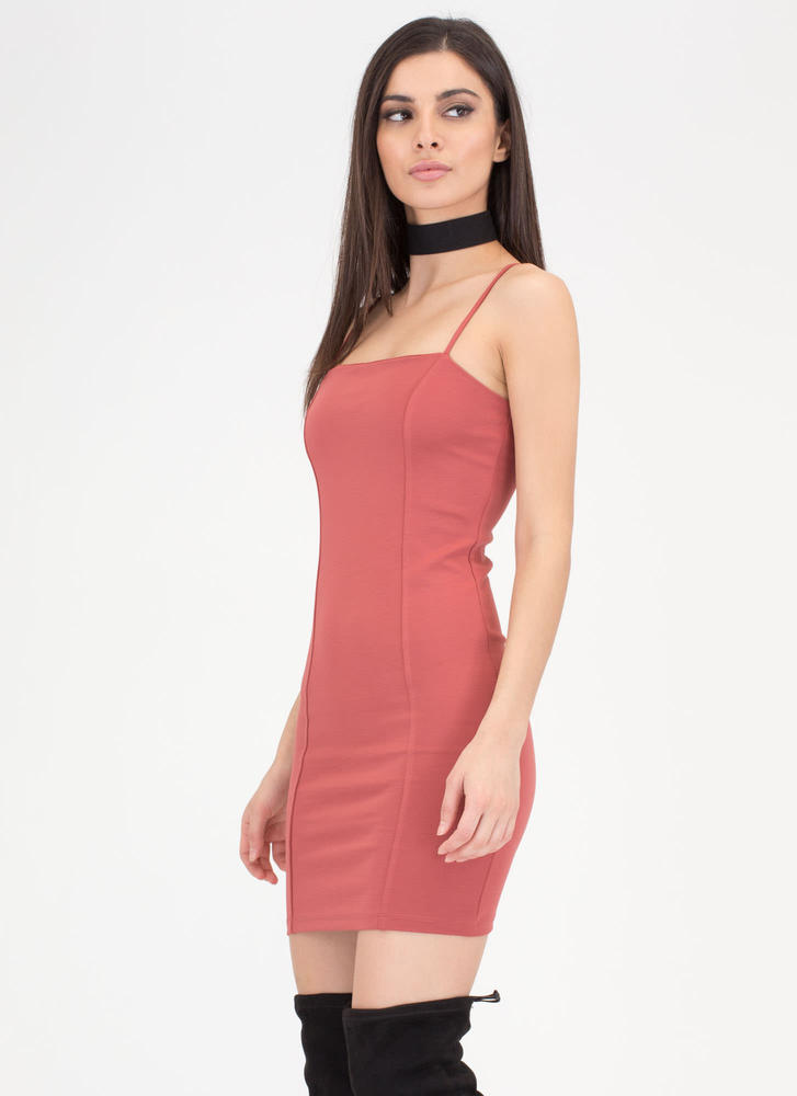 Short Sweet And Simple Minidress MAUVE