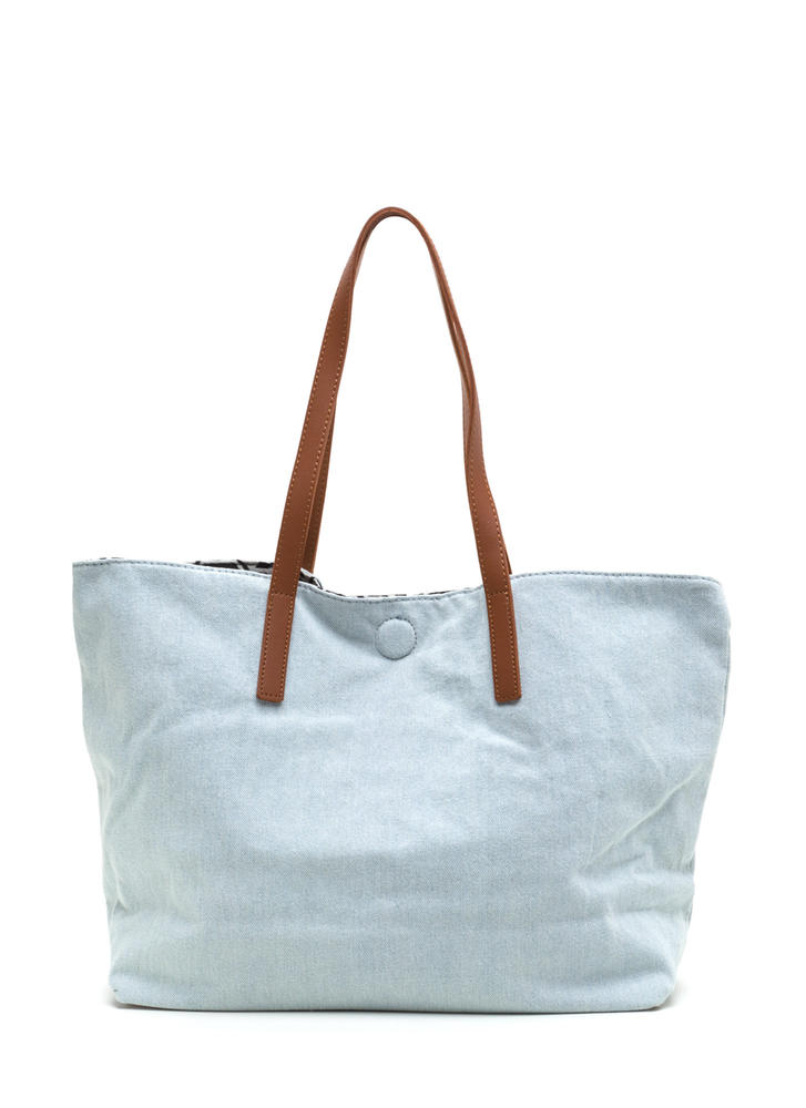 Decision Maker Woven Embroidered Tote LTDENIM