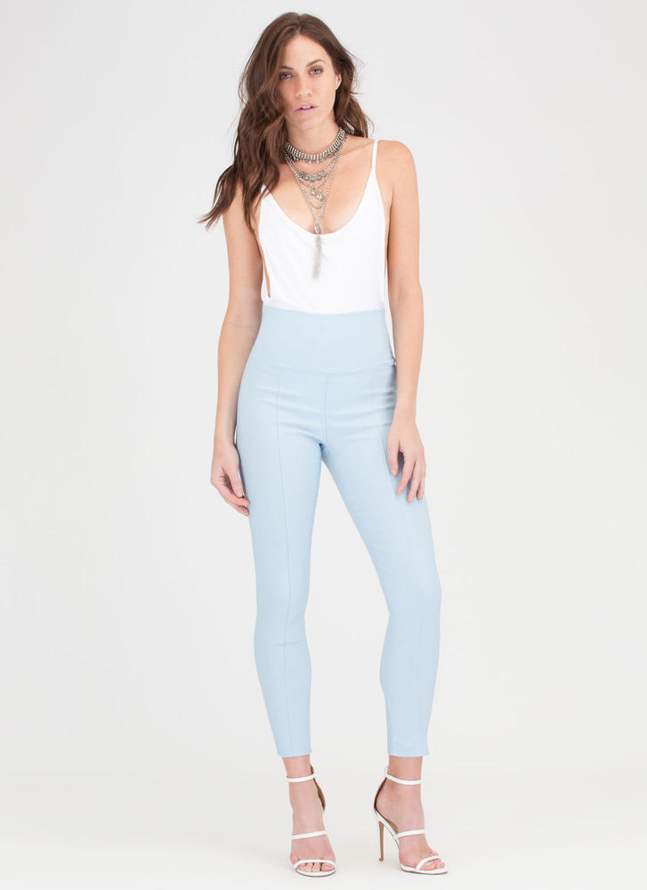Join The Panel High-Waisted Skinny Pants BLUE