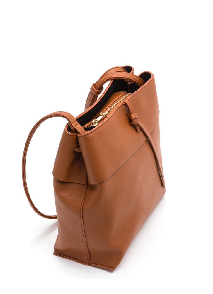 Tranquil Trip Faux Leather Bag CAMEL
