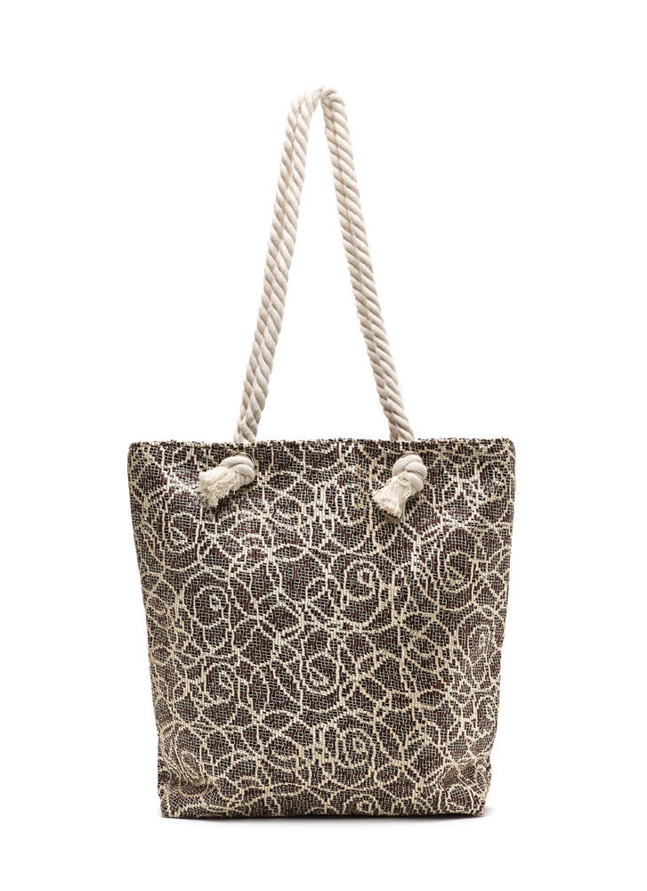 Life Of Luxury Brocade Tote Bag GOLDBLACK