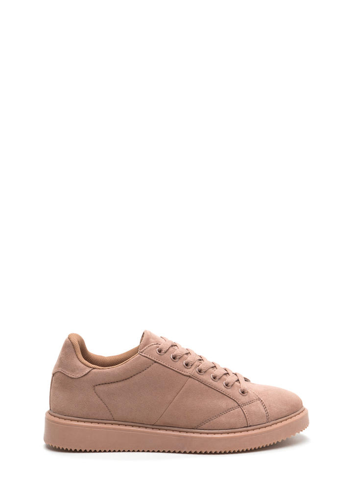 Street Style Elite Lace-Up Sneakers MAUVE