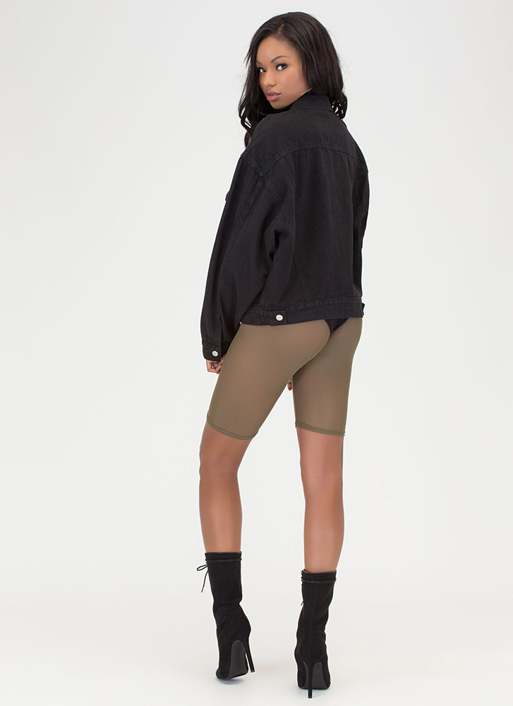 You Sheer Often Bermuda Shorts OLIVE