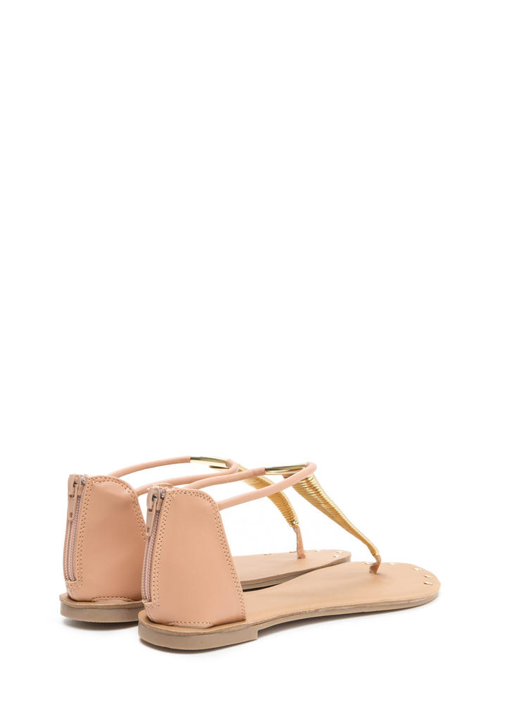 Gleam Come True Studded T-Strap Sandals BLUSH (You Saved $10)