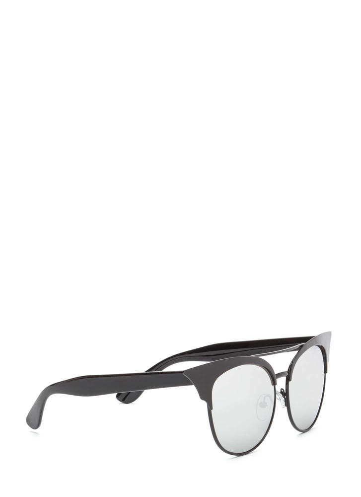 Turn It Up Cat-Eye Sunglasses BLACK