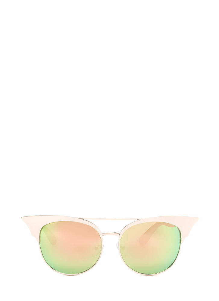 Turn It Up Cat-Eye Sunglasses GOLD