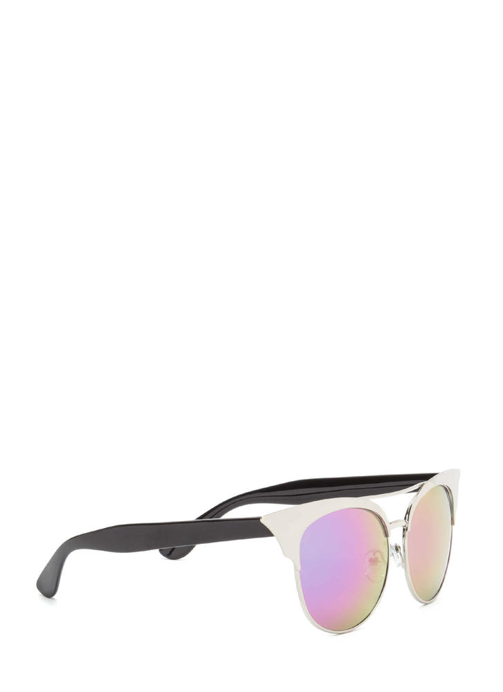 Turn It Up Cat-Eye Sunglasses SILVER