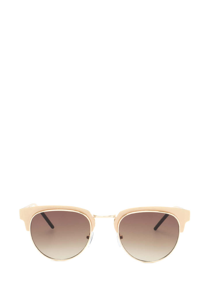 Vintage Queen Brow Bar Sunglasses GOLD
