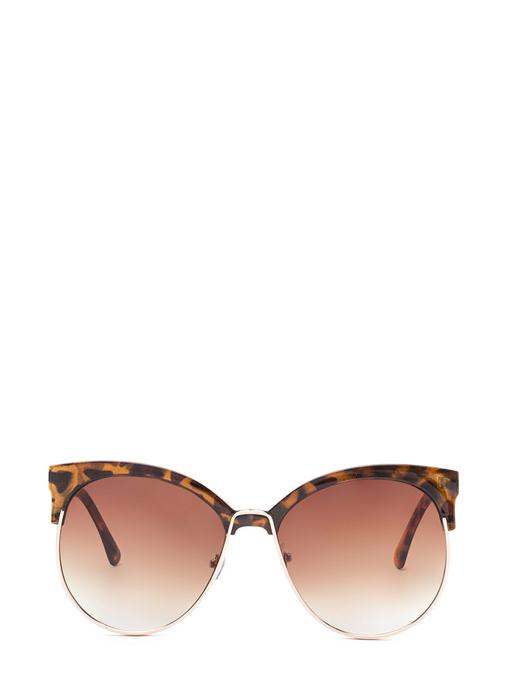 Poolside Paradise Brow Bar Sunglasses BROWNGOLD