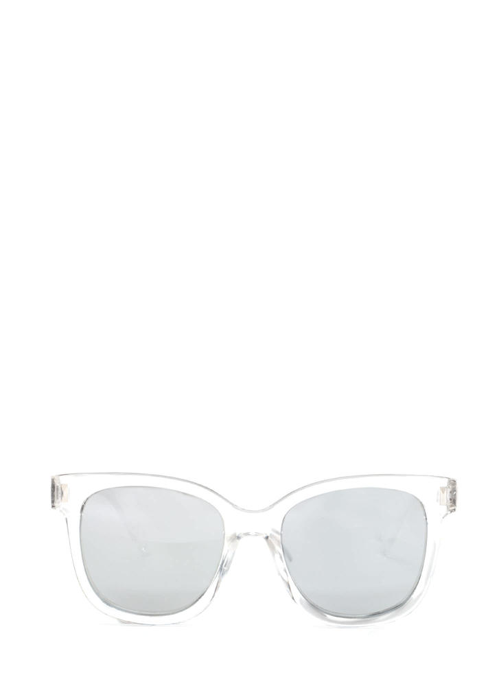 One More Glance Mirrored Sunglasses SILVERCLEAR
