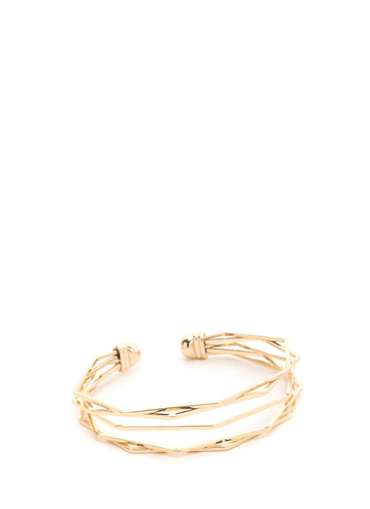 Try A New Angle Layered Wire Cuff GOLD