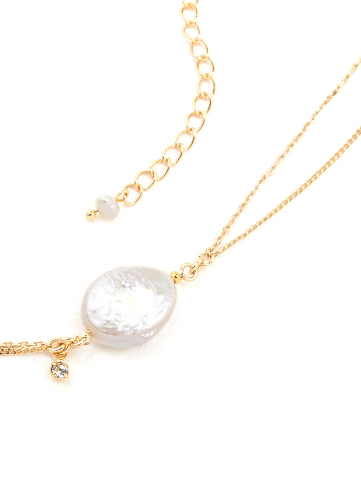 Live The Gleam Dainty Charm Necklace GOLDIVORY