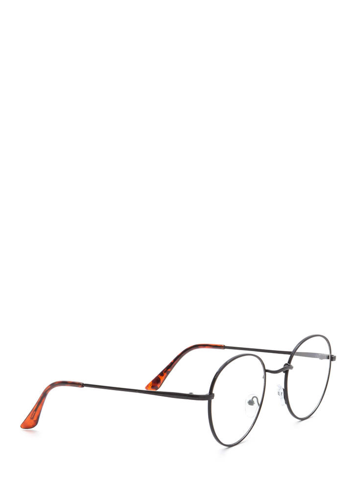 See You Clearly Wire Glasses BLACK (Final Sale)