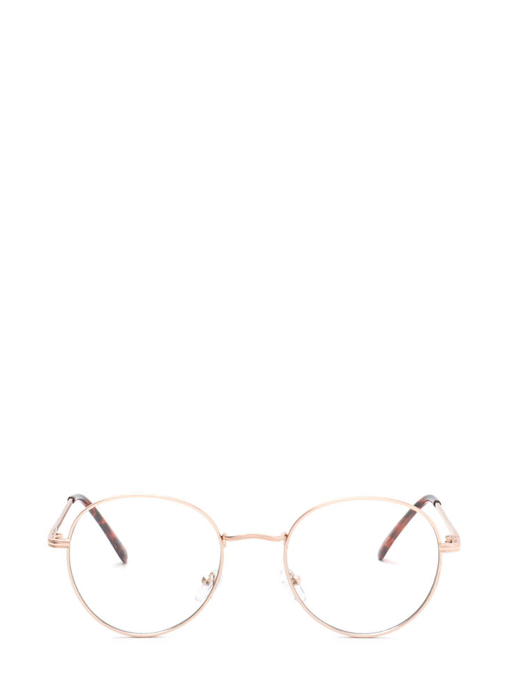 See You Clearly Wire Glasses GOLD