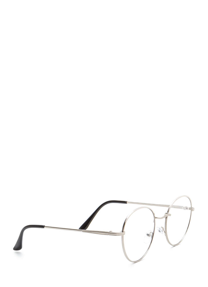 See You Clearly Wire Glasses SILVER (Final Sale)