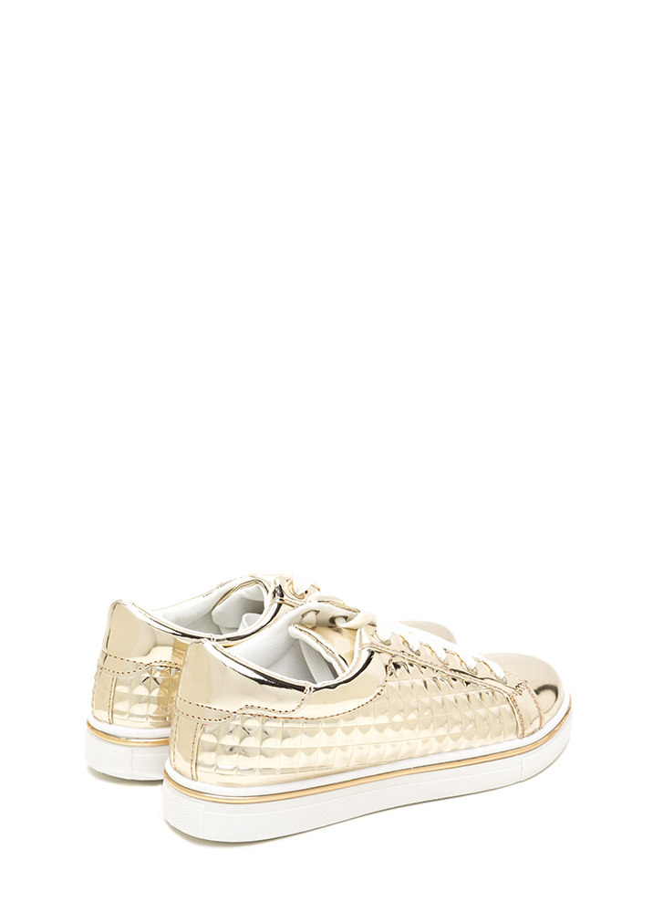 Quilt-y Feelings Metallic Sneakers GOLD
