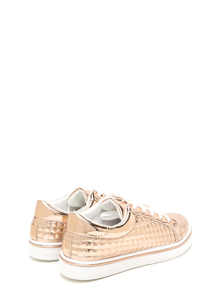 Quilt-y Feelings Metallic Sneakers ROSEGOLD